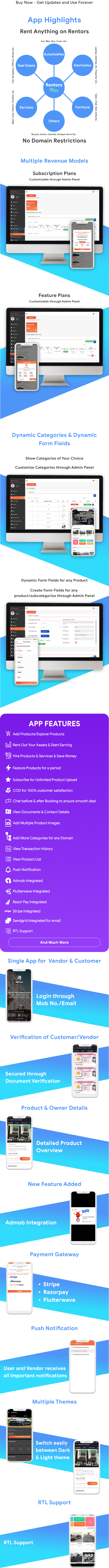 Rentors Plus- Universal Flutter App For Renting and Hiring - 4