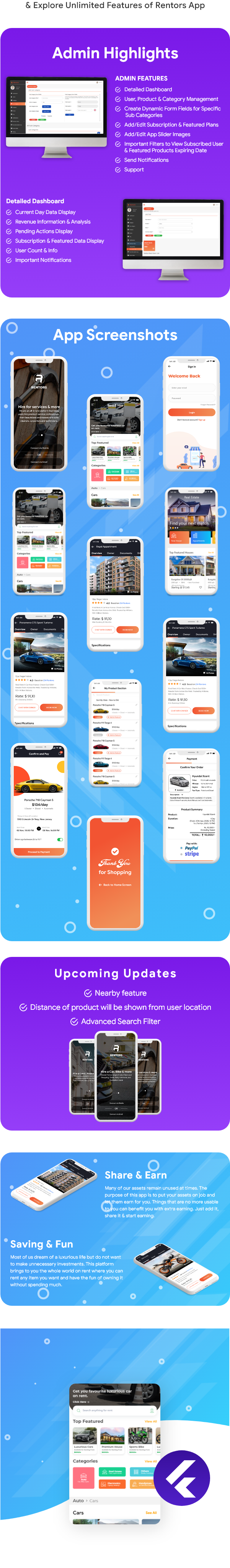 Rentors Plus- Universal Flutter App For Renting and Hiring - 5
